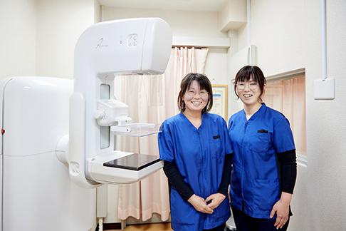 マンモグラフィ検査について
